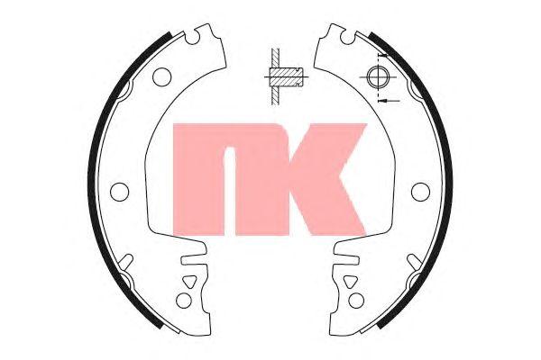 Тормозные колодки NK 2743514