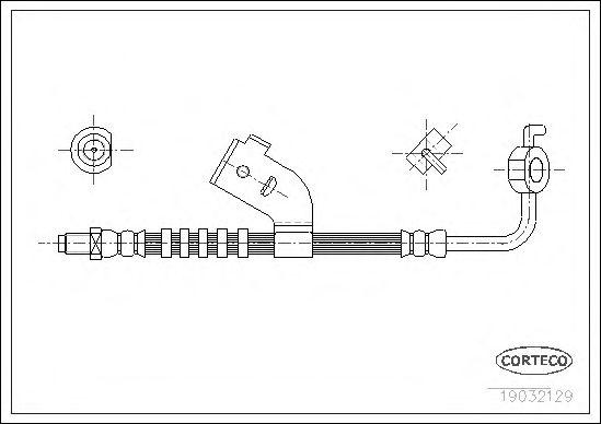 Тормозной шланг CORTECO 19032129