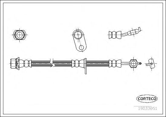 Тормозной шланг CORTECO 19033051