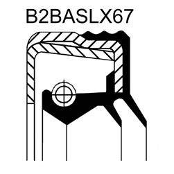 Уплотняющее кольцо CORTECO 12015744B (дифференциал, раздаточная коробка)