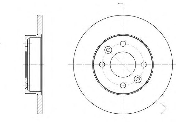 Тормозной диск REMSA 6067.00