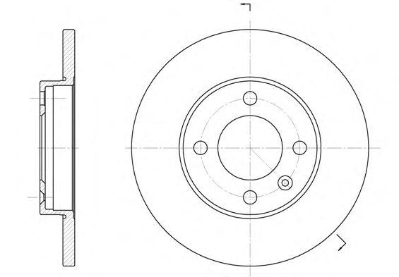 Тормозной диск REMSA 6088.01