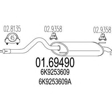 Глушитель MTS 01.69490