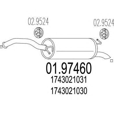 Глушитель MTS 01.97460