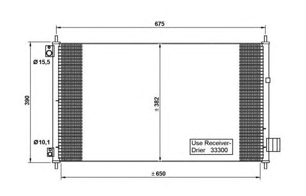 Радиатор кондиционера NRF 35780