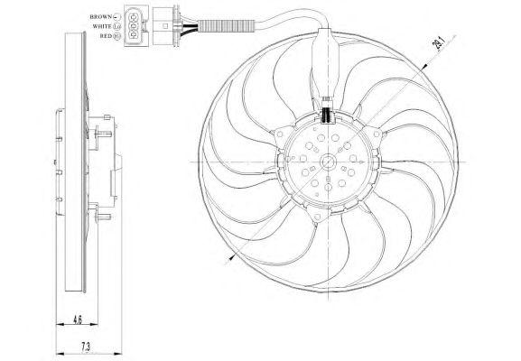 Вентилятор охлаждения NRF 47392