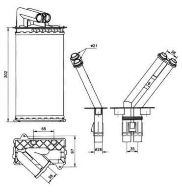 Радиатор отопителя NRF 50577