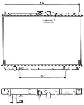 Радиатор, охлаждение двигателя NRF 519517