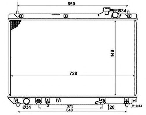 Радиатор, охлаждение двигателя NRF 58378