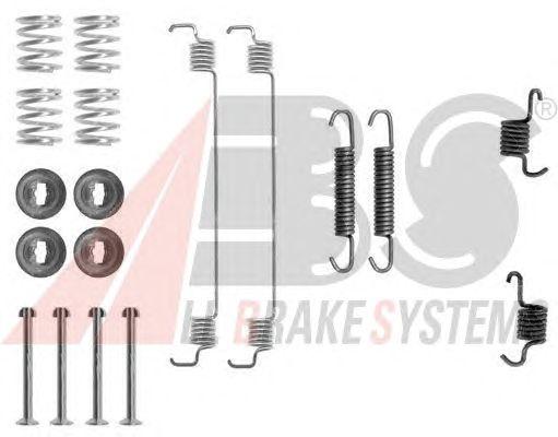 Монтажный комплект тормозных колодок A.B.S. 0777Q