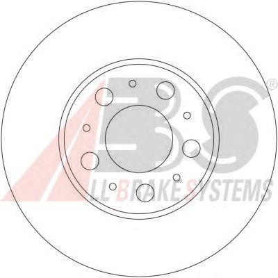 Тормозной диск A.B.S. 17404