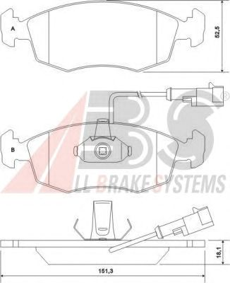 Тормозные колодки A.B.S. 37122