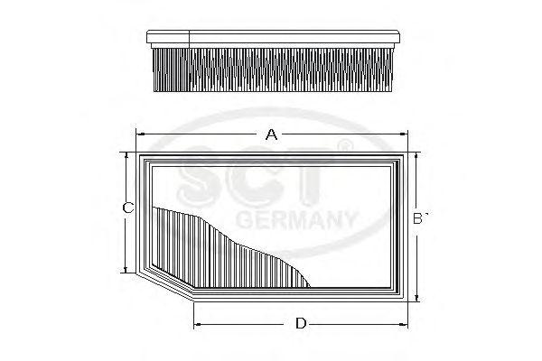 Воздушный фильтр SCT Germany SB 2284