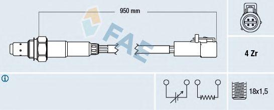 Лямбда-зонд FAE 77262