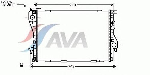 Радиатор, охлаждение двигателя AVA QUALITY COOLING BW2176