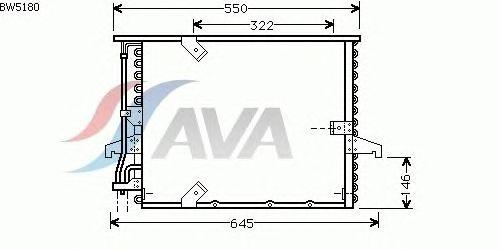 Радиатор кондиционера AVA QUALITY COOLING BW5180