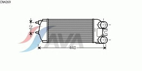 Интеркулер AVA QUALITY COOLING CN4269