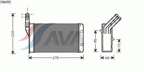 Радиатор отопителя AVA QUALITY COOLING CN6055