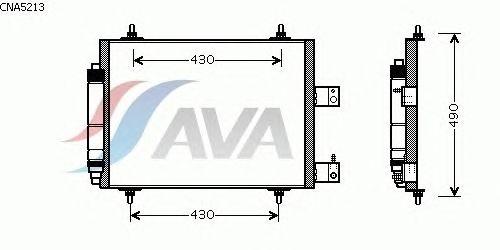 Радиатор кондиционера AVA QUALITY COOLING CNA5213