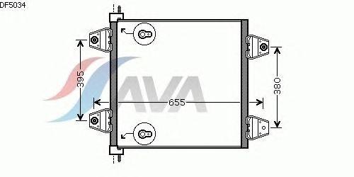 Радиатор кондиционера AVA QUALITY COOLING DF5034