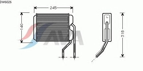 Радиатор отопителя AVA QUALITY COOLING DW6026