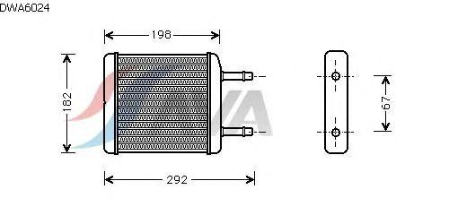 Радиатор отопителя AVA QUALITY COOLING DWA6024