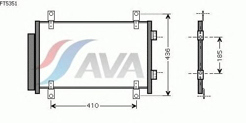 Радиатор кондиционера AVA QUALITY COOLING FT5351