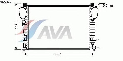 Радиатор, охлаждение двигателя AVA QUALITY COOLING MSA2311