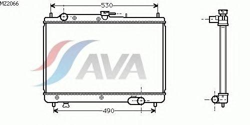 Радиатор, охлаждение двигателя AVA QUALITY COOLING MZ2066