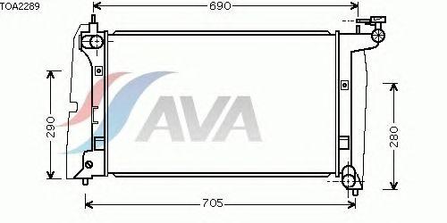 Радиатор, охлаждение двигателя AVA QUALITY COOLING TOA2289