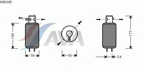Осушитель кондиционера AVA QUALITY COOLING VWD165