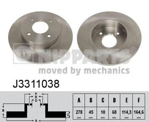 Тормозной диск NIPPARTS J3311038