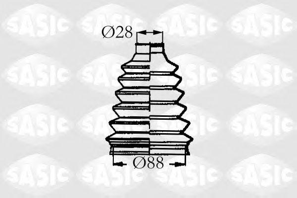 Комплект пыльника ШРУСа SASIC 4003455
