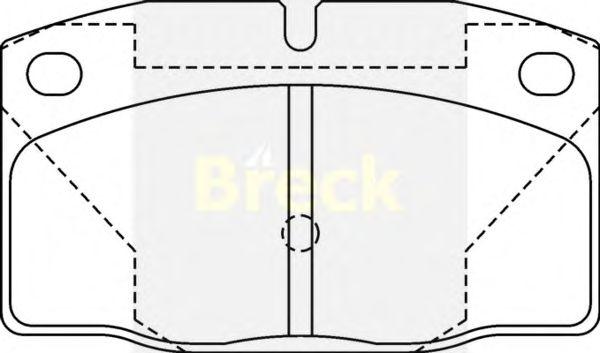 Тормозные колодки BRECK 20939 00 702 00