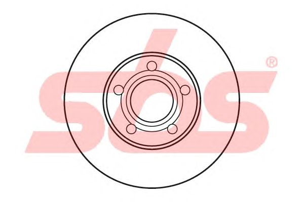 Тормозной диск sbs 1815204765