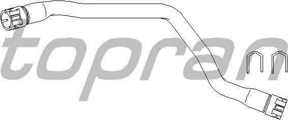 Шланг радиатора TOPRAN 501 552