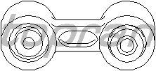 Тяга / стойка стабилизатора TOPRAN 500 163
