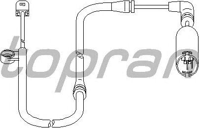 Датчик, износ тормозных колодок TOPRAN 501 404