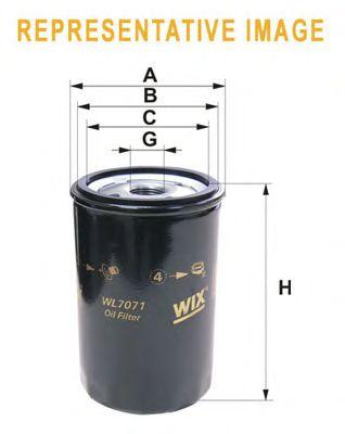 Масляный фильтр WIX FILTERS WL7159