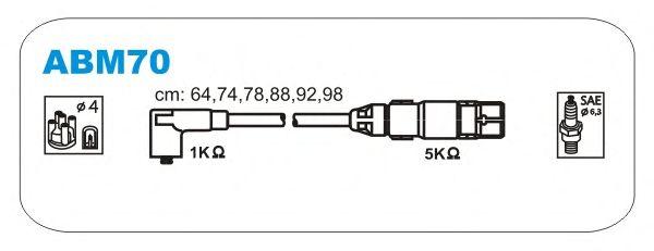 Комплект высоковольтных проводов JANMOR ABM70