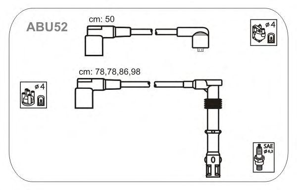 Комплект высоковольтных проводов JANMOR ABU52