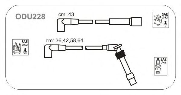 Комплект высоковольтных проводов JANMOR ODU228