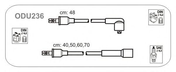 Комплект высоковольтных проводов JANMOR ODU236