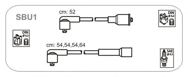 Комплект высоковольтных проводов JANMOR SBU1