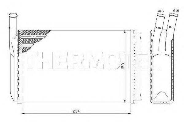 Радиатор отопителя THERMOTEC D6W003TT