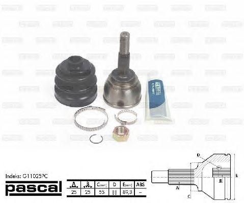 Комплект ШРУСов PASCAL G11025PC