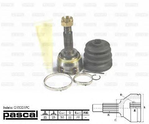 Комплект ШРУСов PASCAL G15001PC
