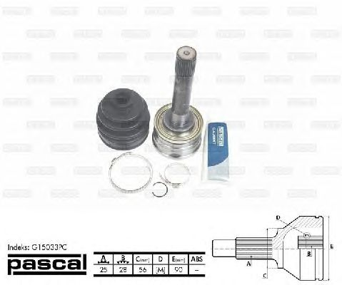 Комплект ШРУСов PASCAL G15033PC