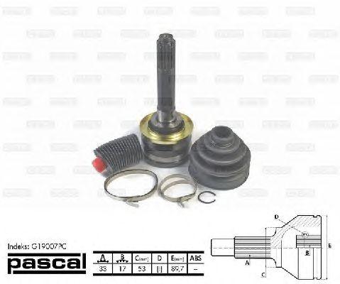Комплект ШРУСов PASCAL G19007PC