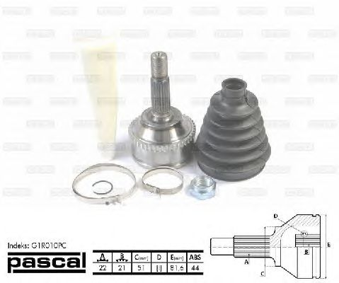 Комплект ШРУСов PASCAL G1R010PC